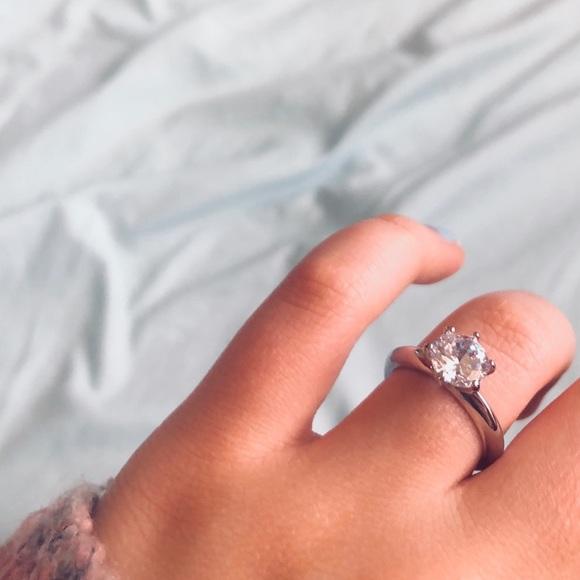 Jewelry Simple Silver Diamond Engagement Ring Poshmark